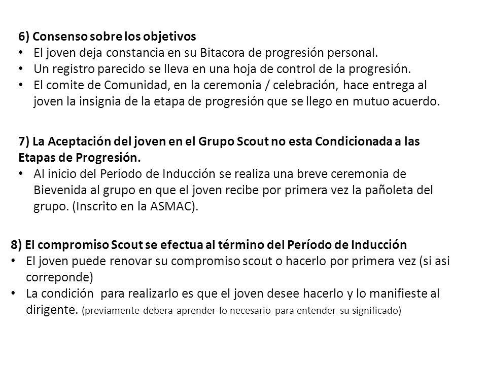 6) Consenso sobre los objetivos
