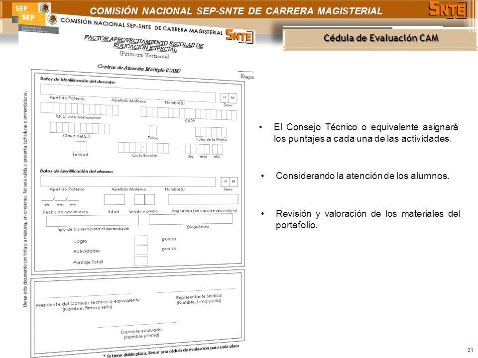 Cédula de Evaluación CAM
