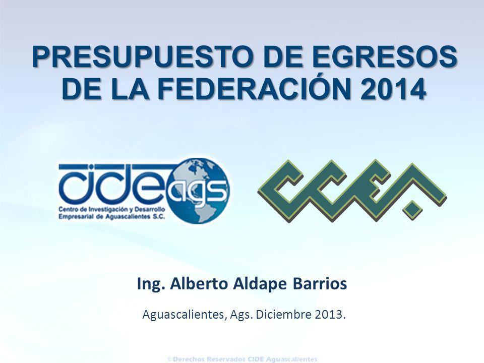 PRESUPUESTO DE EGRESOS Ing. Alberto Aldape Barrios