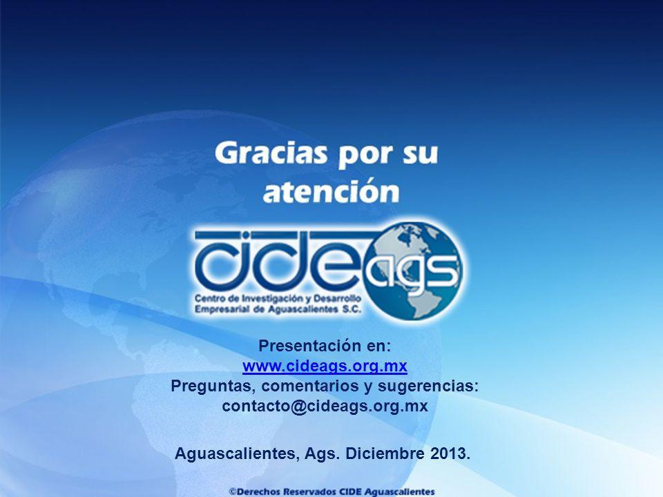 Preguntas, comentarios y sugerencias: contacto@cideags.org.mx