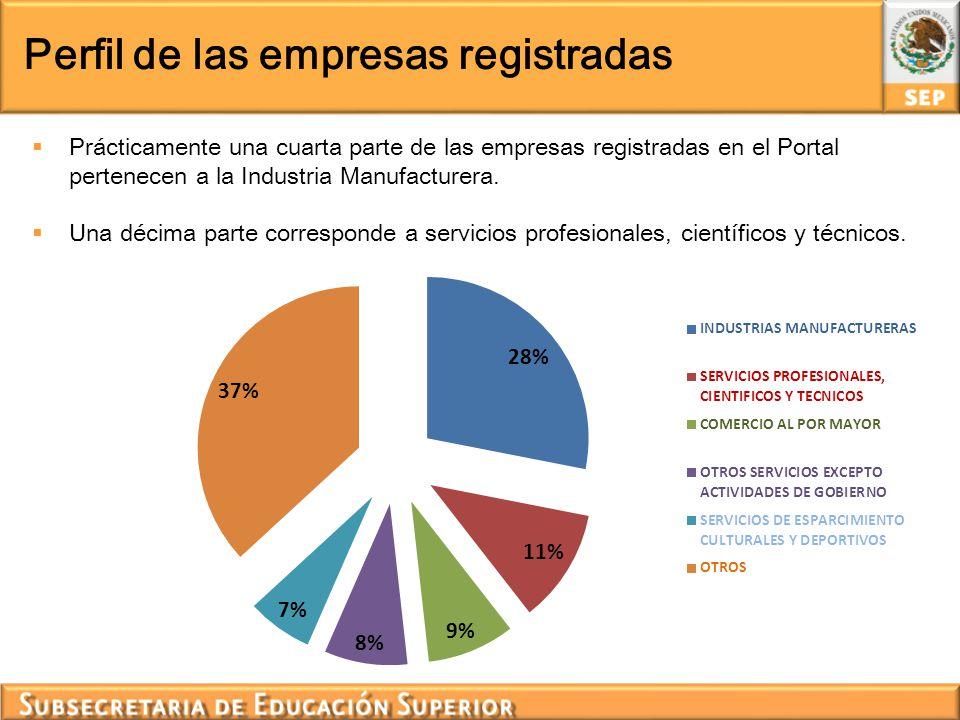 Perfil de las empresas registradas