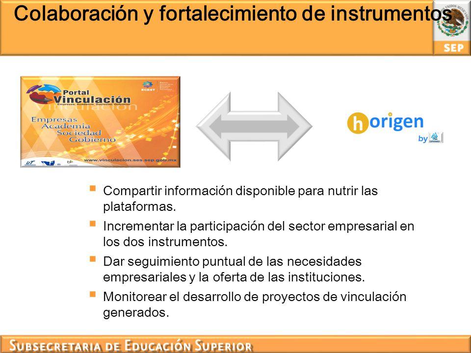 Colaboración y fortalecimiento de instrumentos