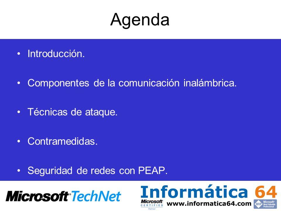 Agenda Introducción. Componentes de la comunicación inalámbrica.