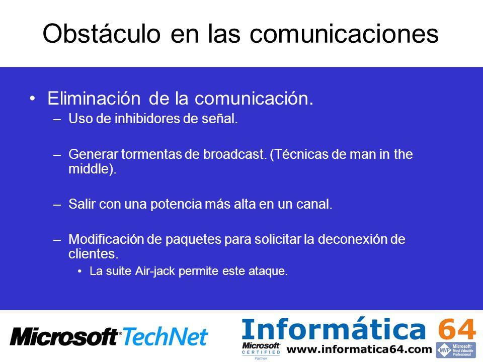 Obstáculo en las comunicaciones