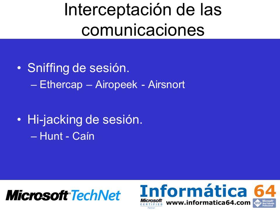 Interceptación de las comunicaciones