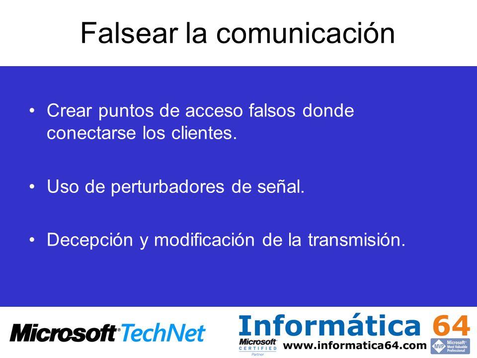 Falsear la comunicación