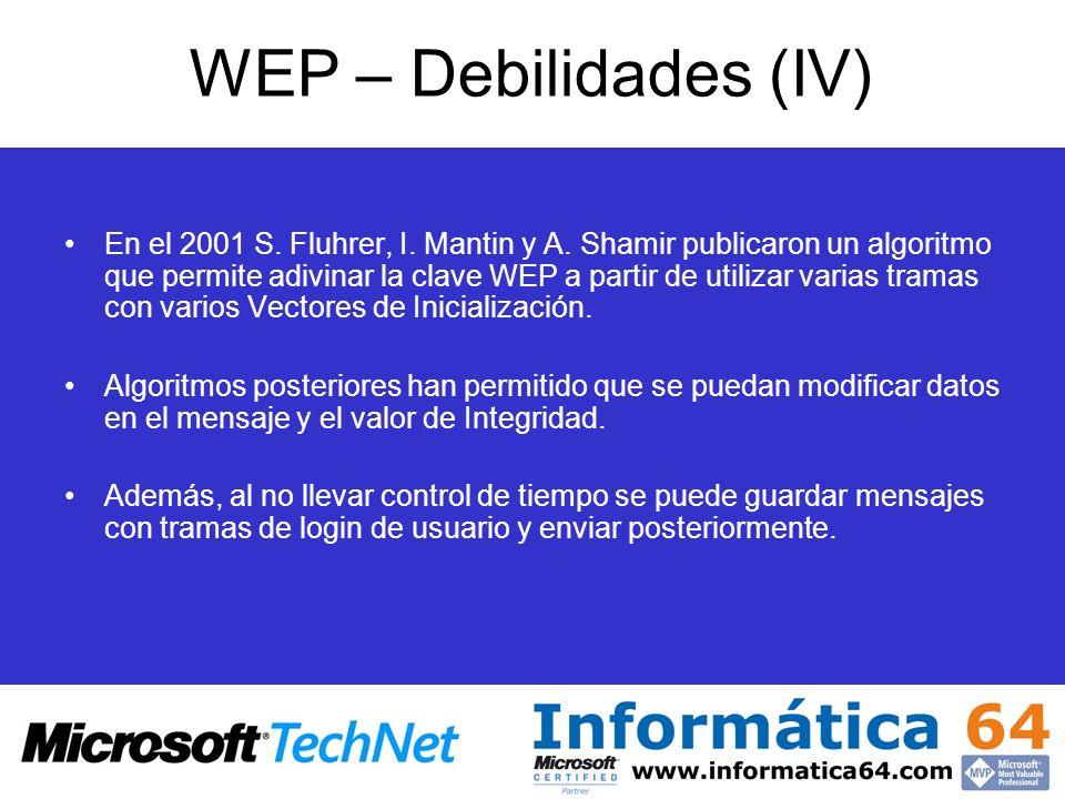 WEP – Debilidades (IV)