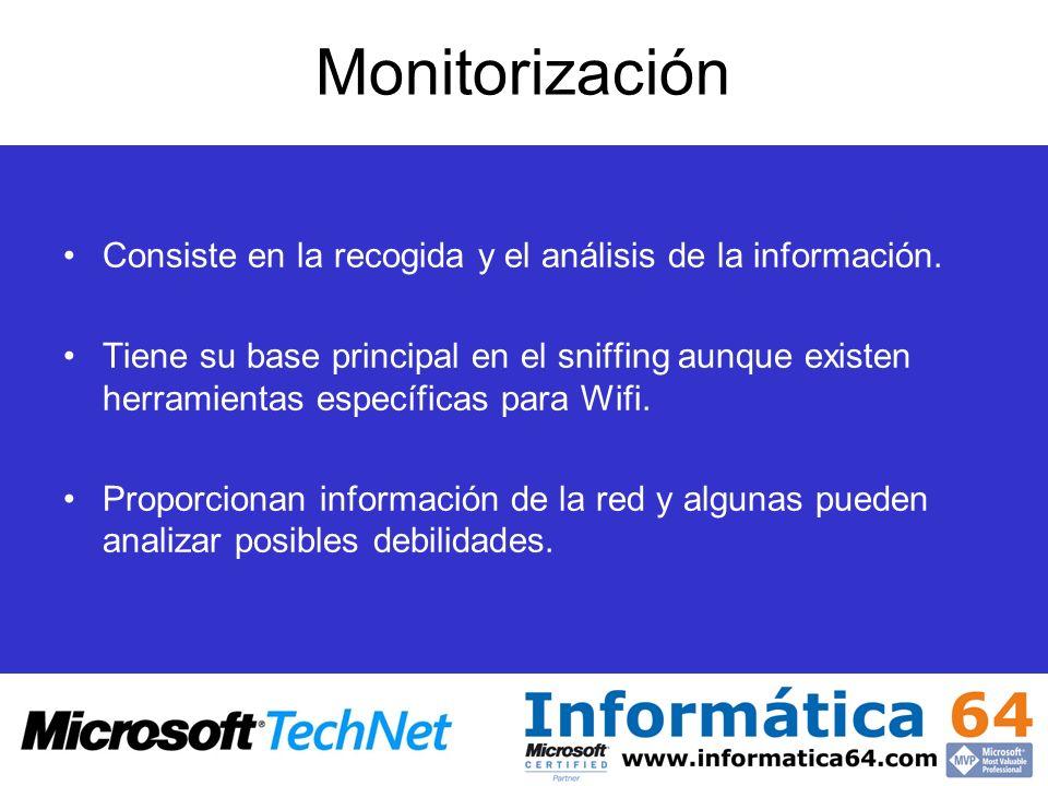 Monitorización Consiste en la recogida y el análisis de la información.