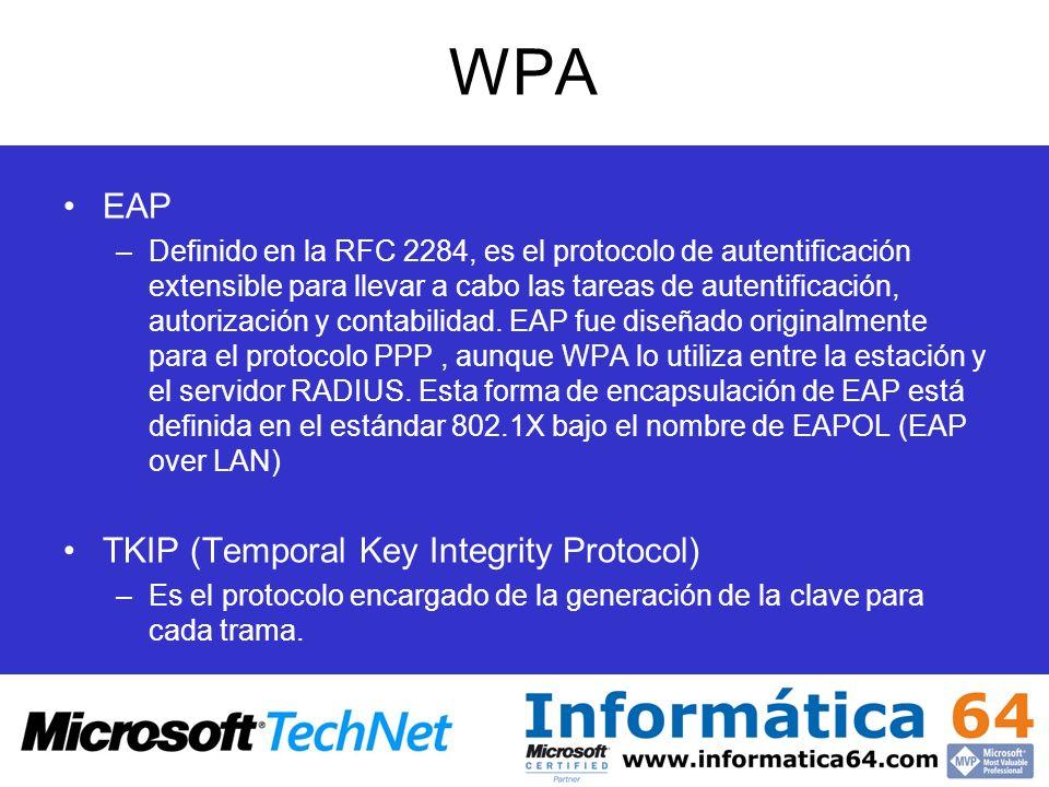 WPA EAP TKIP (Temporal Key Integrity Protocol)
