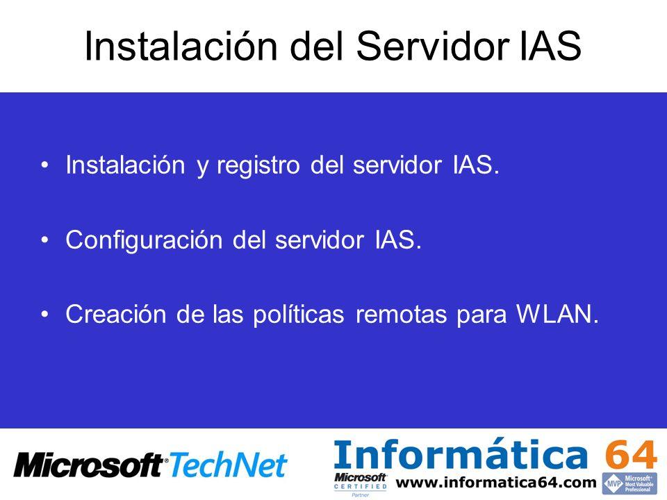 Instalación del Servidor IAS