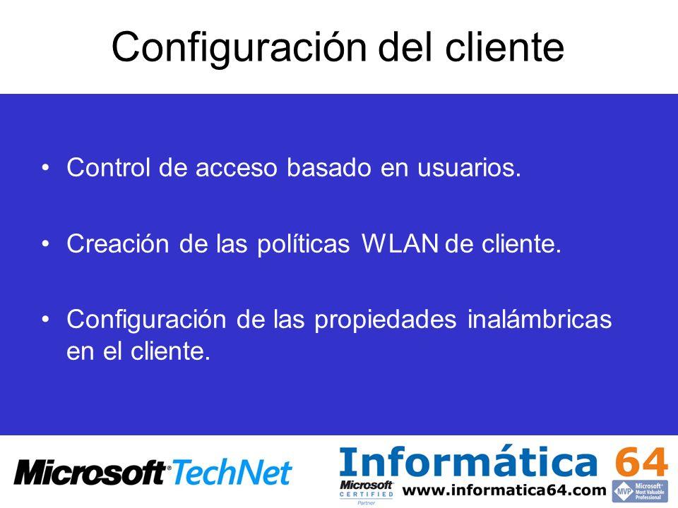 Configuración del cliente