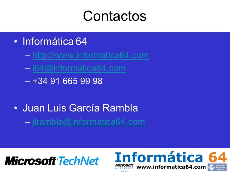 Contactos Informática 64 Juan Luis García Rambla