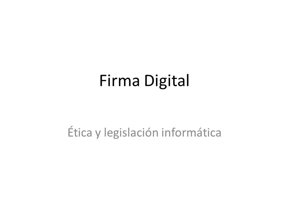 Ética y legislación informática