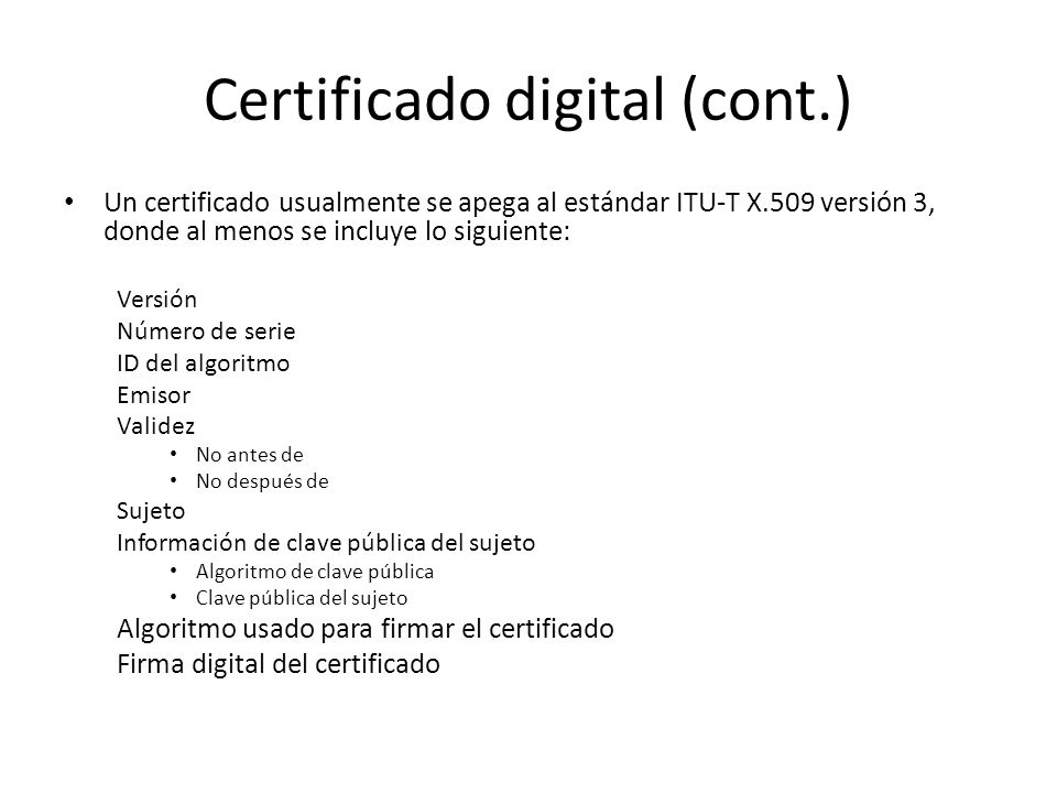 Certificado digital (cont.)