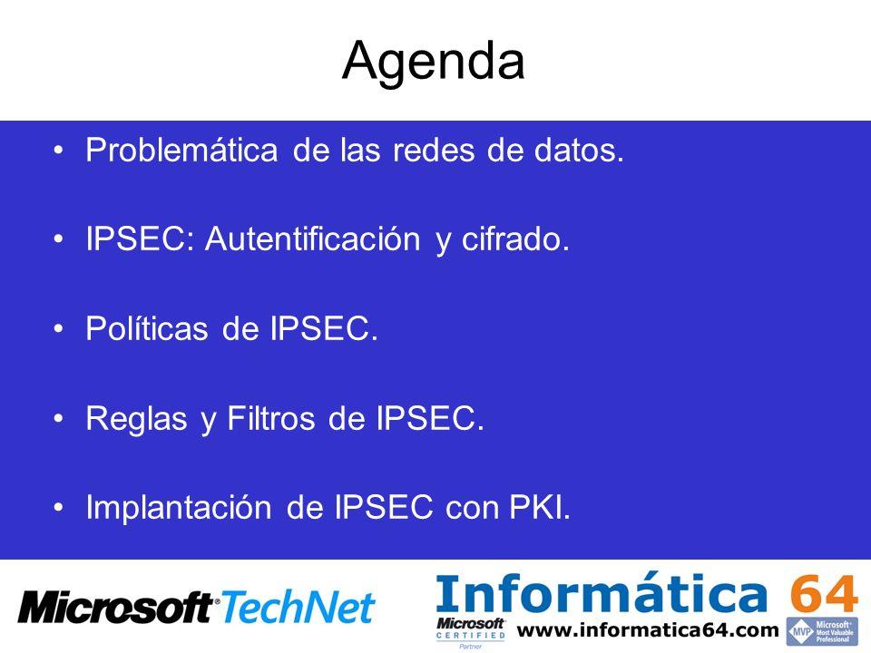 Agenda Problemática de las redes de datos.
