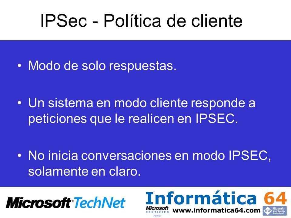 IPSec - Política de cliente