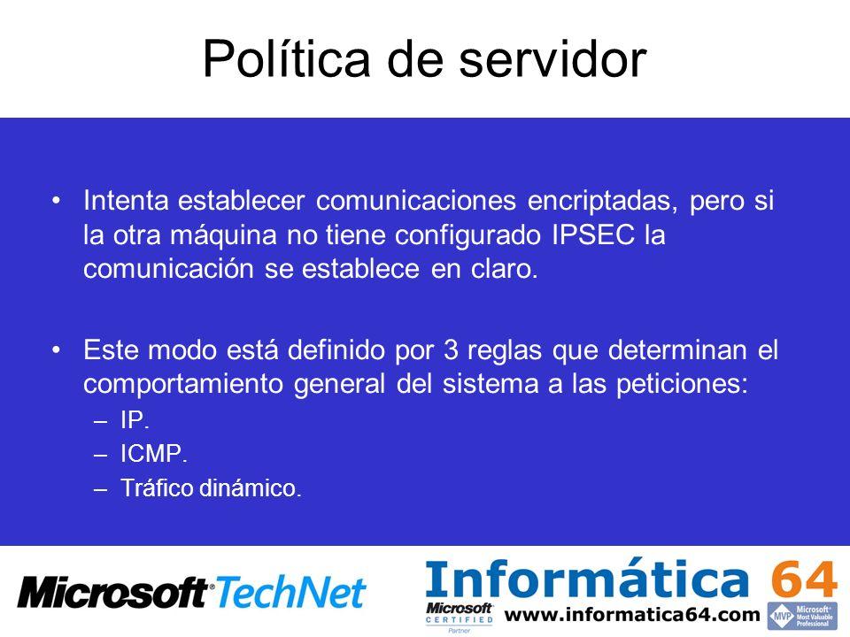 Política de servidor