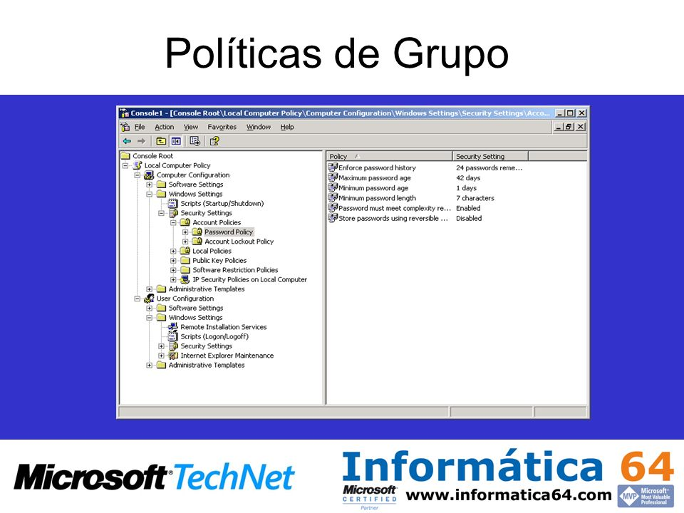 Políticas de Grupo Introduction