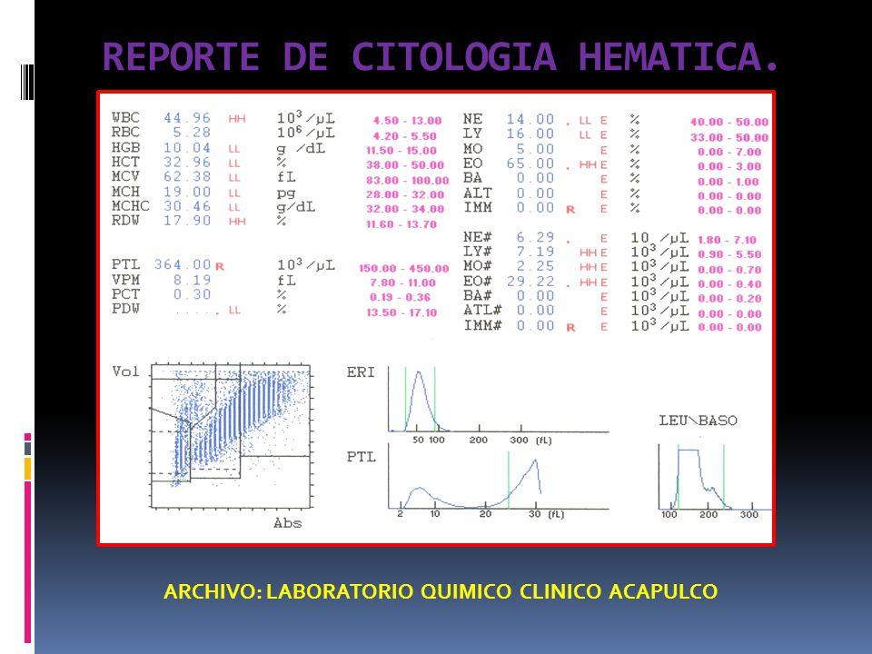 REPORTE DE CITOLOGIA HEMATICA.
