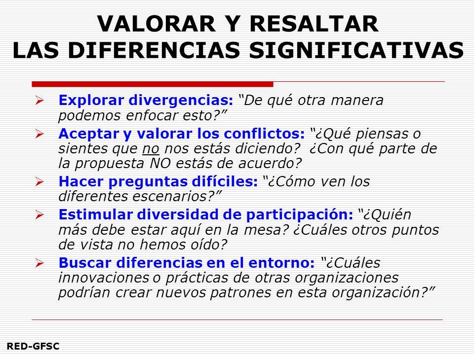 VALORAR Y RESALTAR LAS DIFERENCIAS SIGNIFICATIVAS