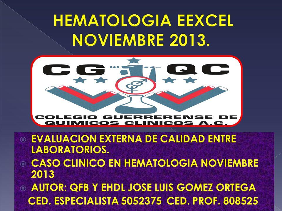 HEMATOLOGIA EEXCEL NOVIEMBRE 2013.