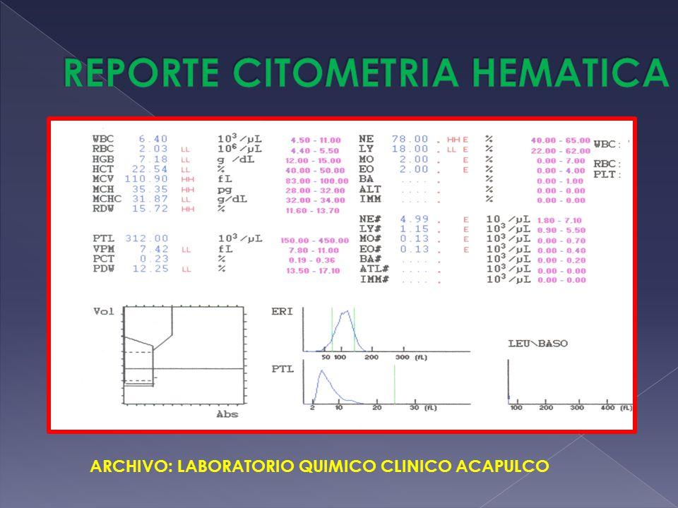 REPORTE CITOMETRIA HEMATICA