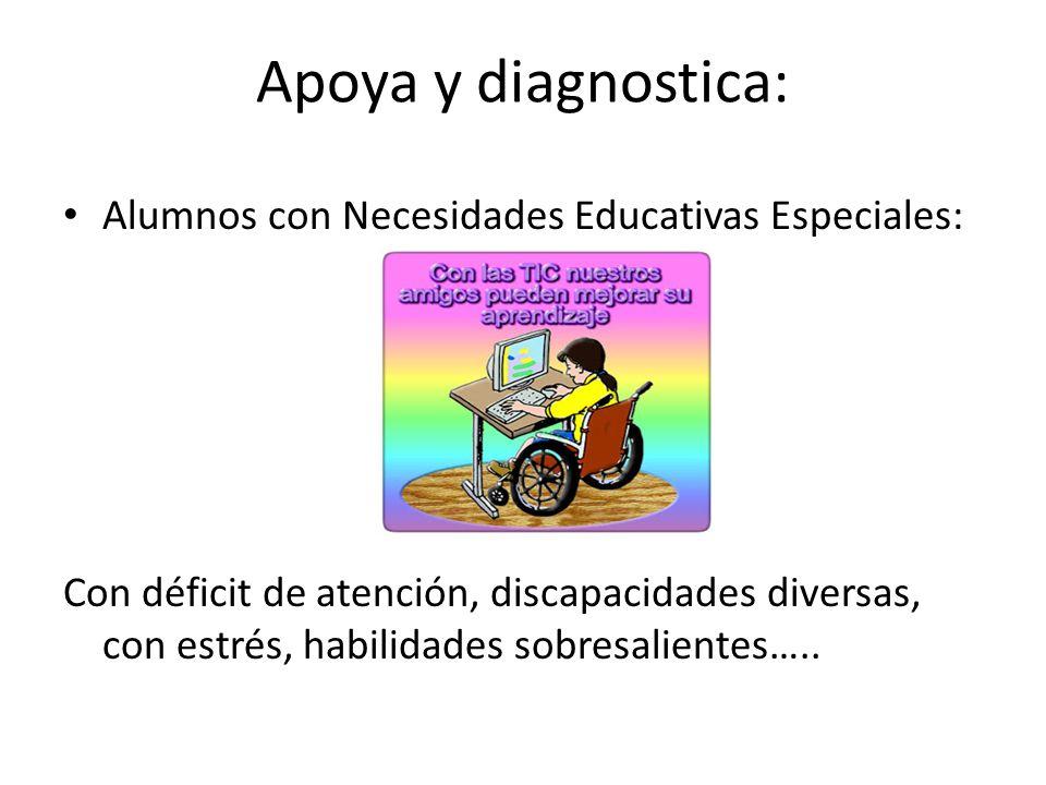 Apoya y diagnostica: Alumnos con Necesidades Educativas Especiales: