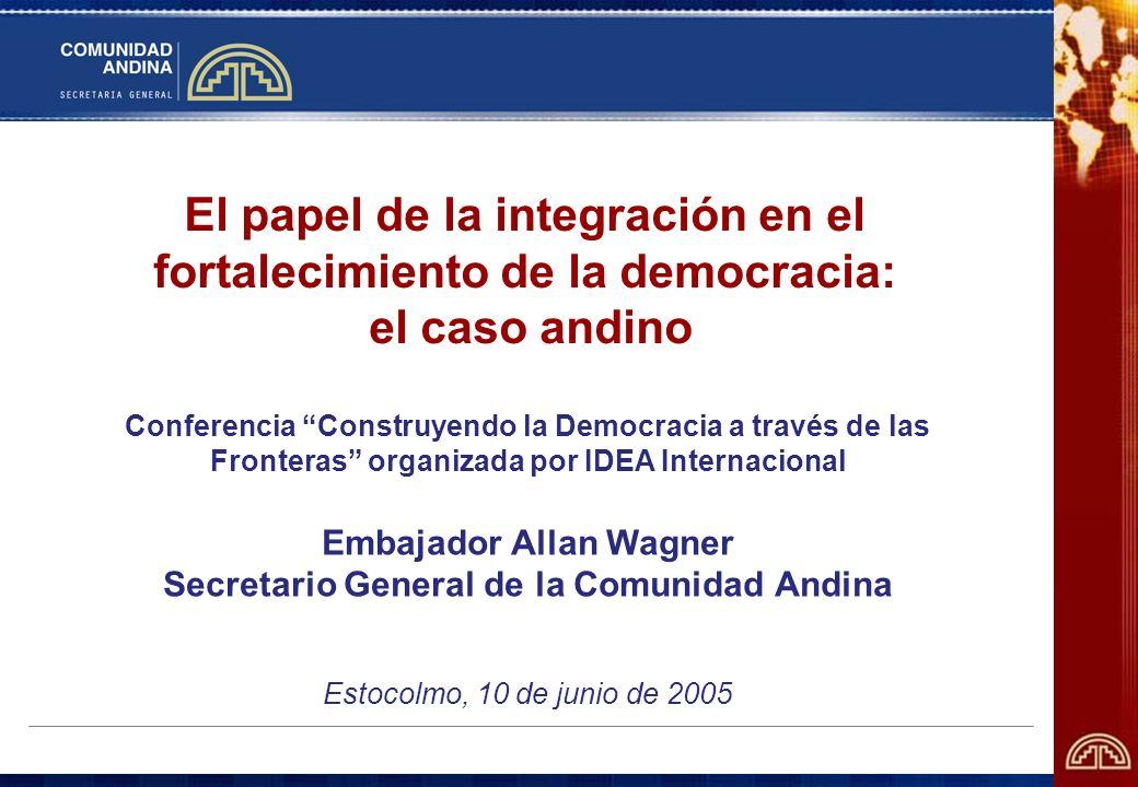Embajador Allan Wagner Secretario General de la Comunidad Andina