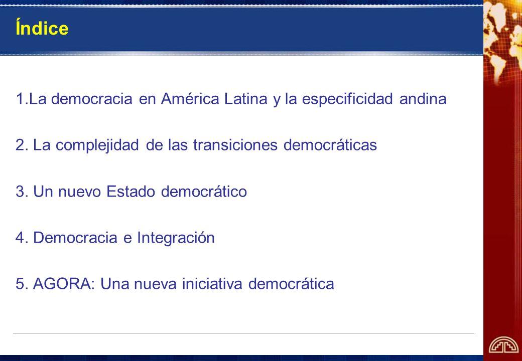 Índice 1.La democracia en América Latina y la especificidad andina