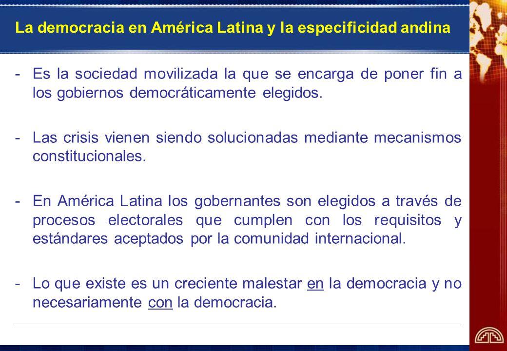 La democracia en América Latina y la especificidad andina