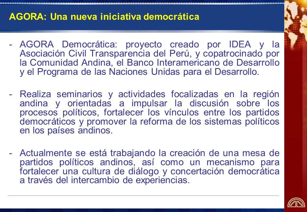 AGORA: Una nueva iniciativa democrática