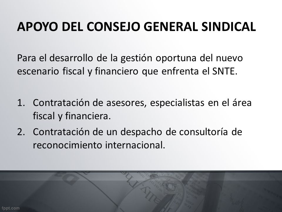APOYO DEL CONSEJO GENERAL SINDICAL