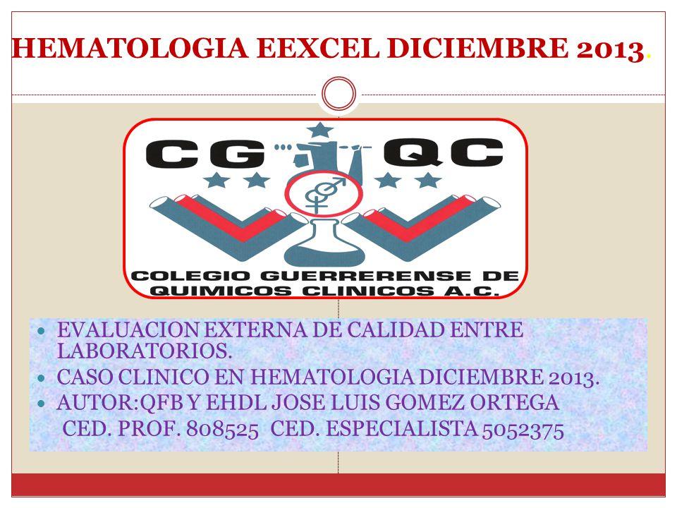 HEMATOLOGIA EEXCEL DICIEMBRE 2013.