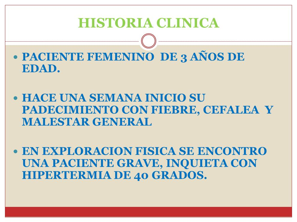 HISTORIA CLINICA PACIENTE FEMENINO DE 3 AÑOS DE EDAD.