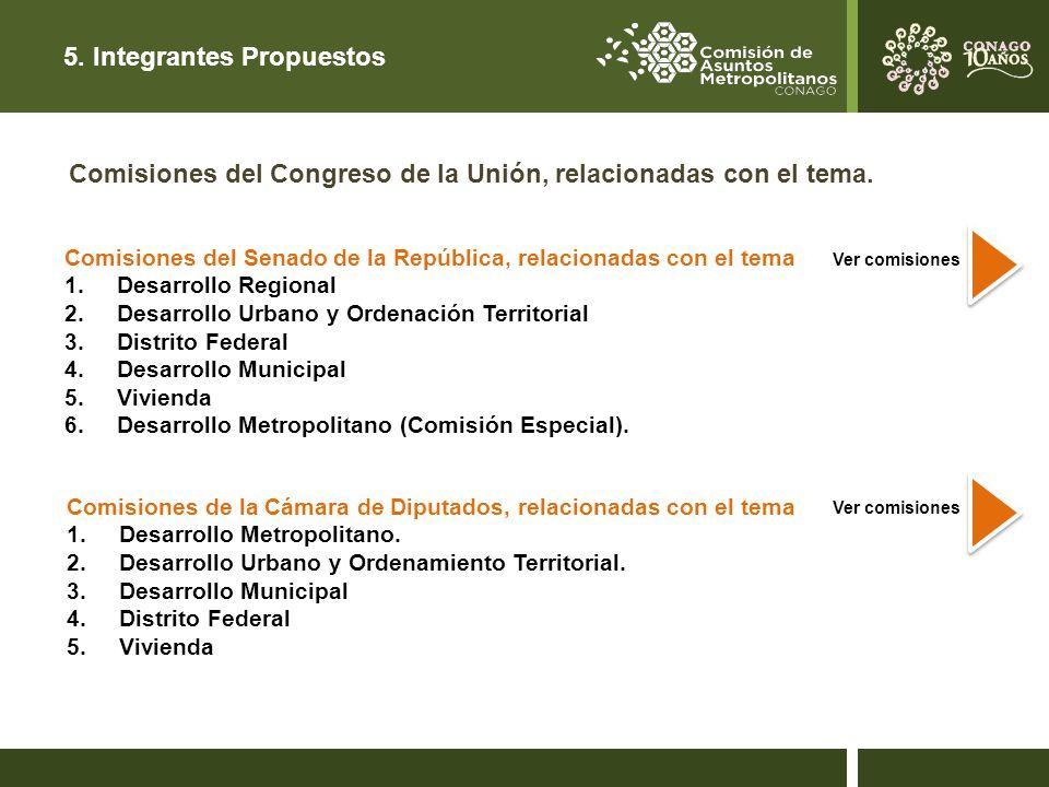5. Integrantes Propuestos