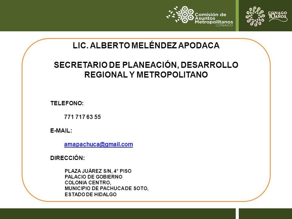 LIC. ALBERTO MELÉNDEZ APODACA