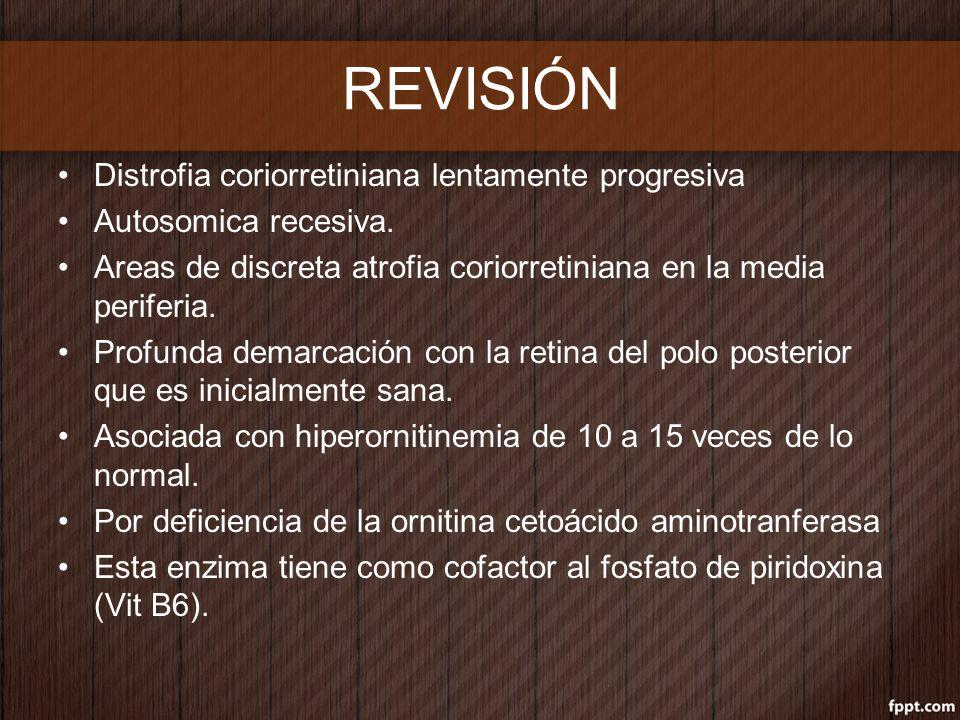 REVISIÓN Distrofia coriorretiniana lentamente progresiva