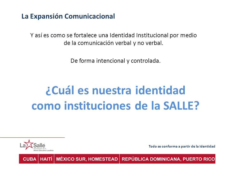 ¿Cuál es nuestra identidad como instituciones de la SALLE