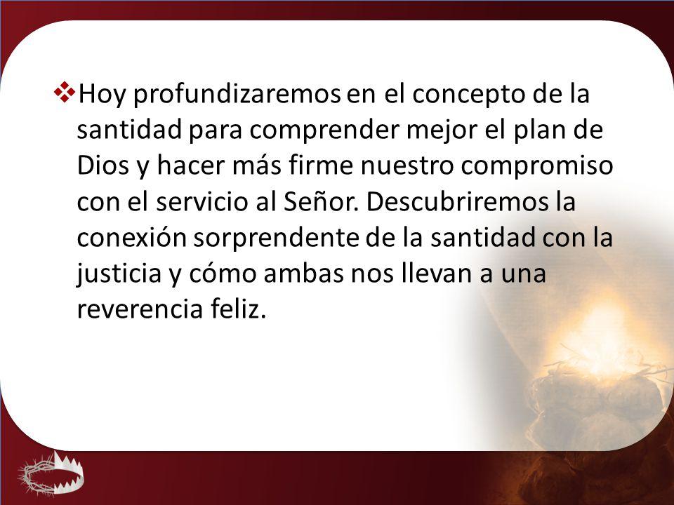 Hoy profundizaremos en el concepto de la santidad para comprender mejor el plan de Dios y hacer más firme nuestro compromiso con el servicio al Señor.