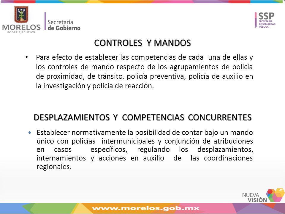 DESPLAZAMIENTOS Y COMPETENCIAS CONCURRENTES
