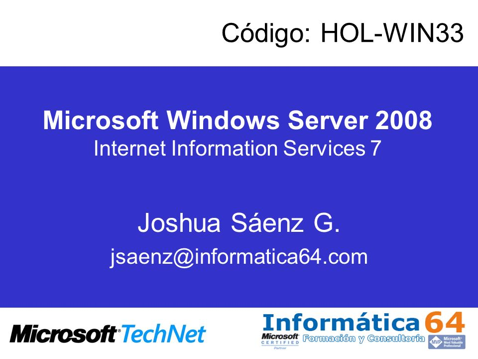Microsoft Windows Server 2008 Internet Information Services 7
