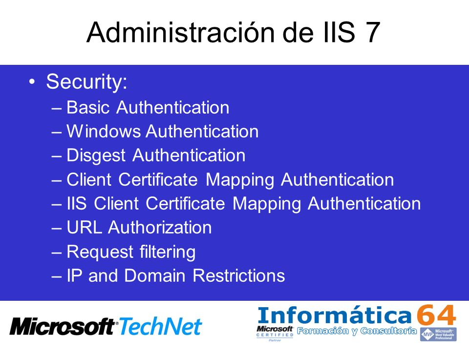 Administración de IIS 7 Security: Basic Authentication