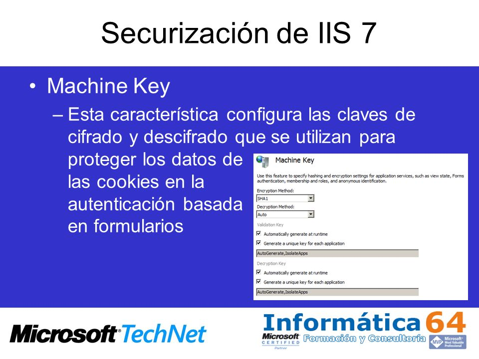 Securización de IIS 7 Machine Key