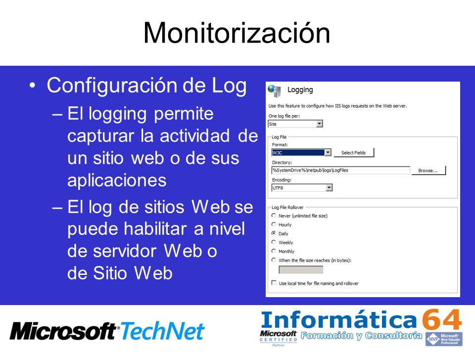 Monitorización Configuración de Log