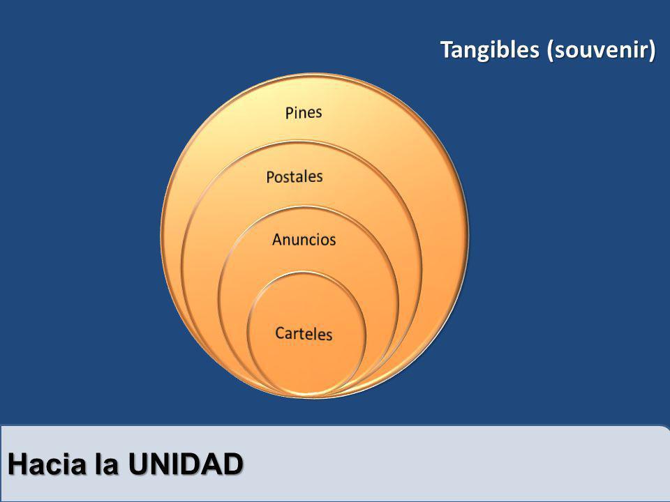 Tangibles (souvenir) Pines Postales Anuncios Carteles Hacia la UNIDAD