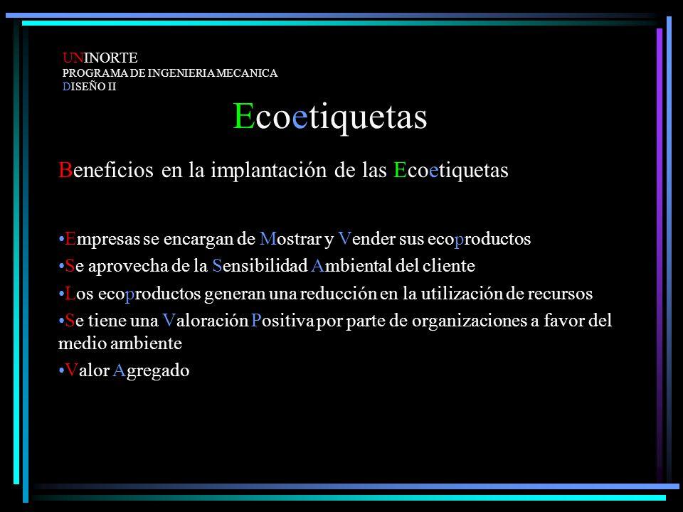 Ecoetiquetas Beneficios en la implantación de las Ecoetiquetas