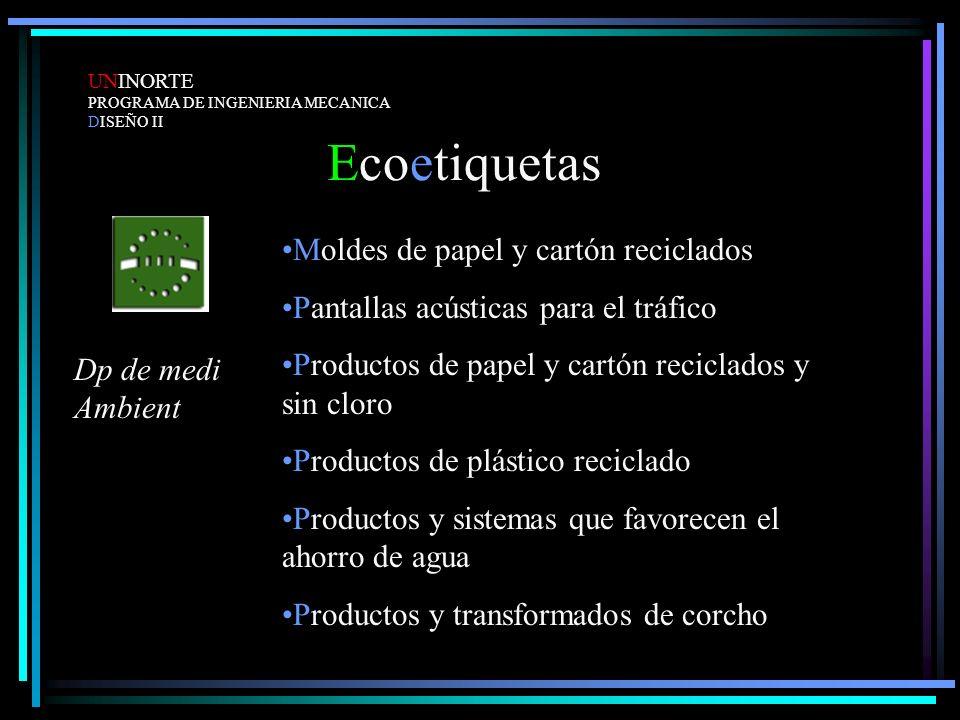 Ecoetiquetas Moldes de papel y cartón reciclados