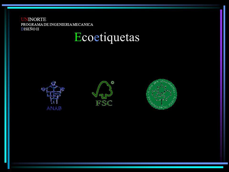 UNINORTE PROGRAMA DE INGENIERIA MECANICA DISEÑO II Ecoetiquetas