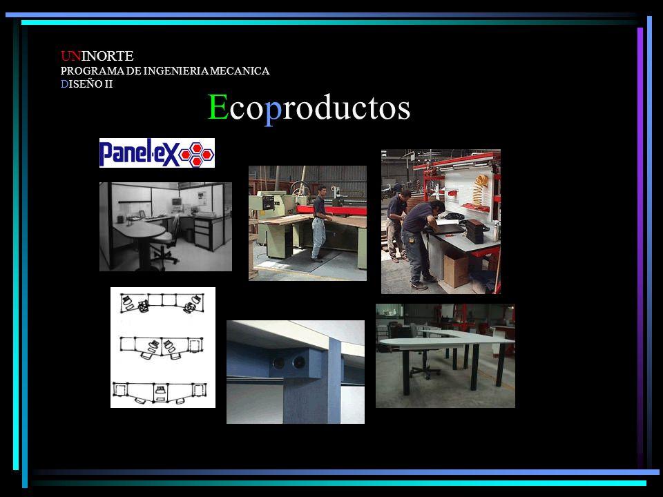 UNINORTE PROGRAMA DE INGENIERIA MECANICA DISEÑO II Ecoproductos