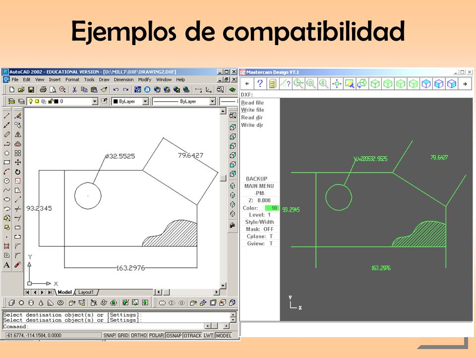 Ejemplos de compatibilidad